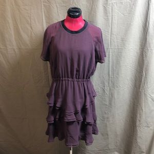 NWT Madewell Flowing Sheer Dress in Plum 👗